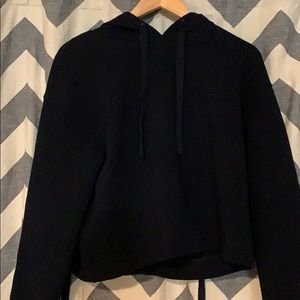 Vince cropped black hoodie with ties in the back
